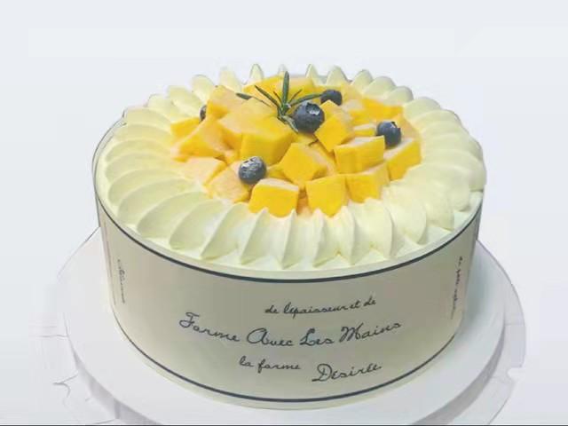 芒果牛乳生日蛋糕